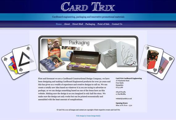 Cardboard Engineering website