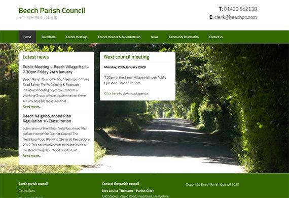 Parish Council Web Designers