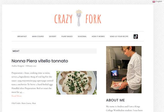 Recipe sharing website