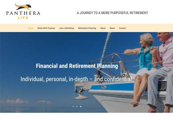 Website for a retirement coach